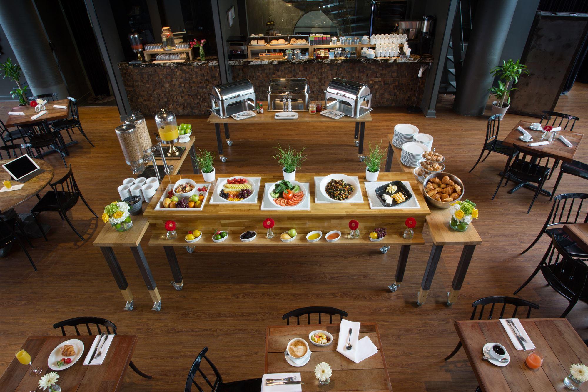 Breakfast Buffet Overhead View