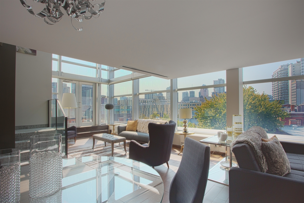 Penthouse Dining Room and Living Room