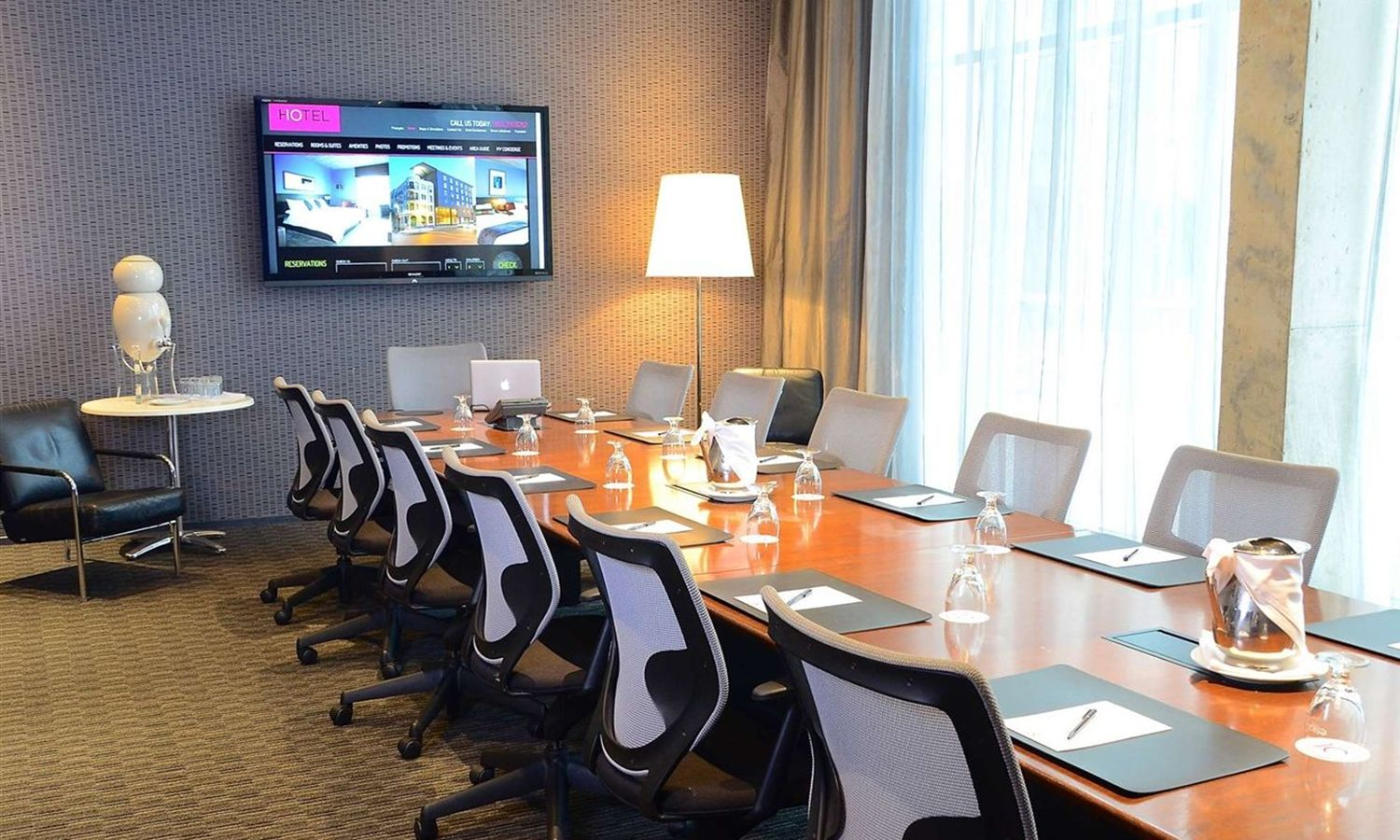 Image of a conference room at our Business Friendly Meeting Space in Montreal
