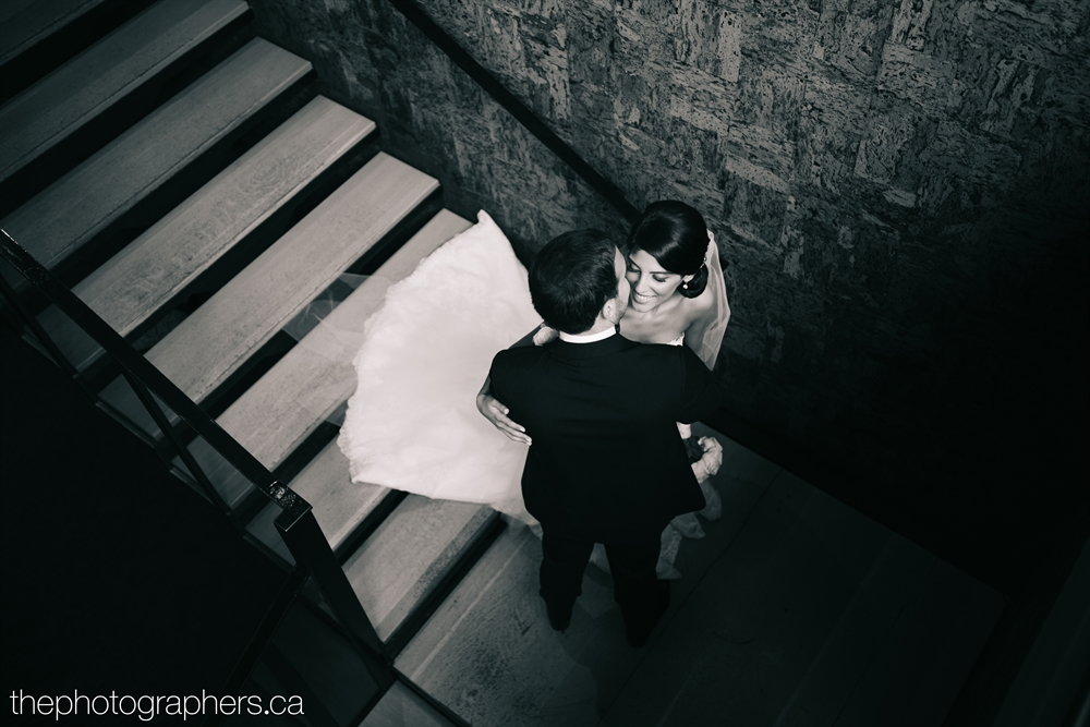 Wedding Couple in Stairwell