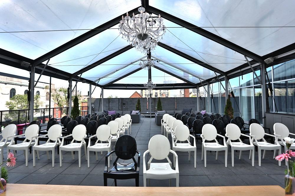 Hotel 10 Outdoor Event Tent Setup