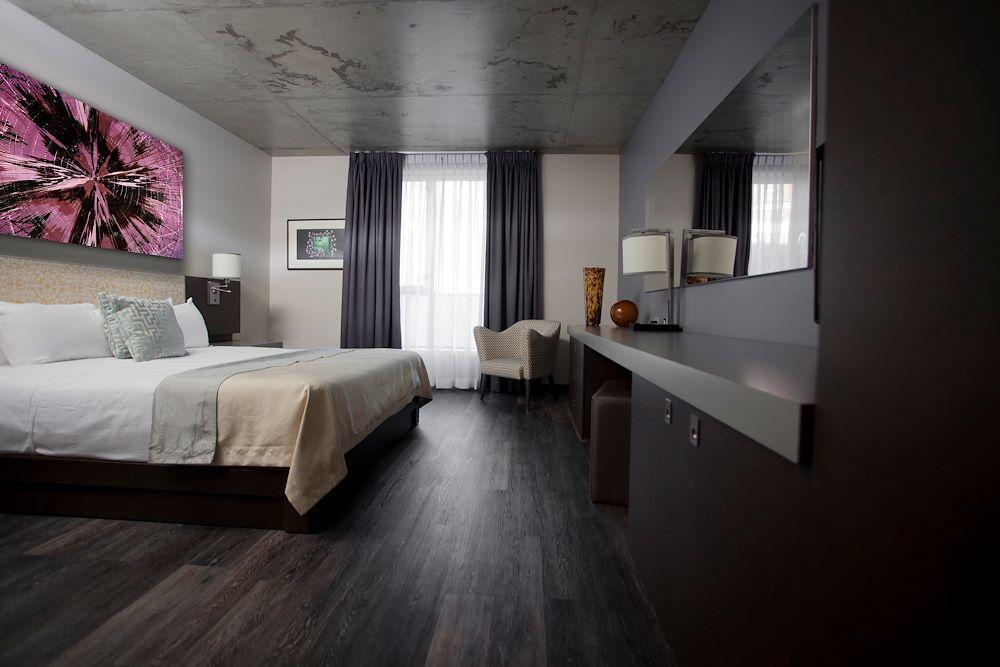 Chambre avec plancher